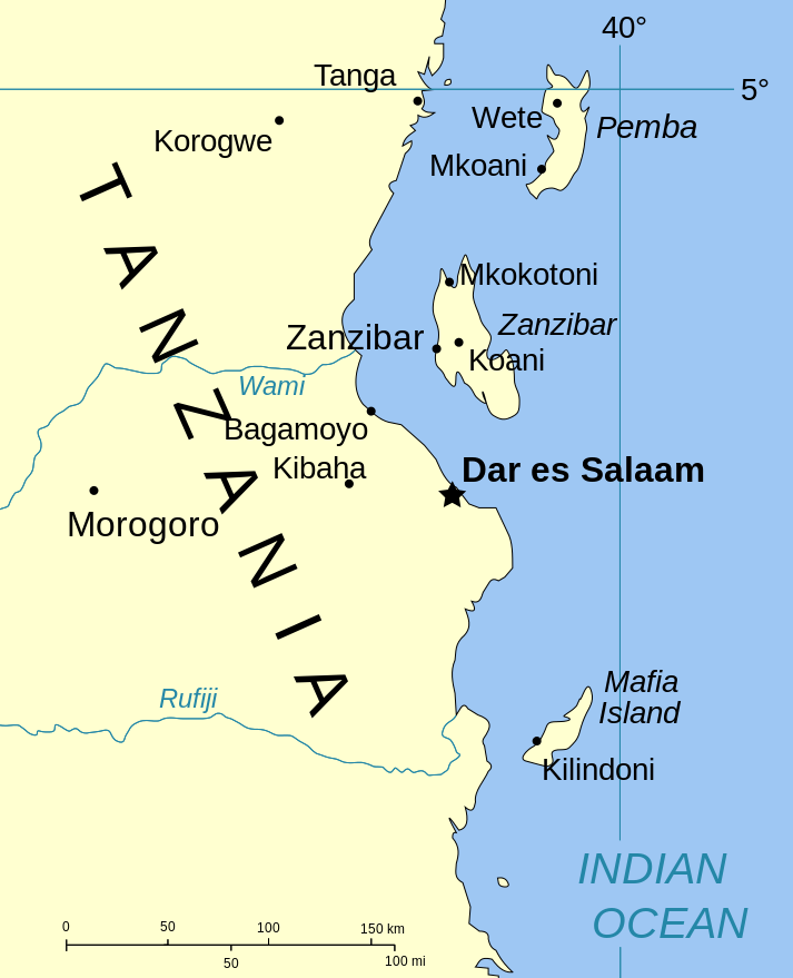 L'arcipelago di Zanzibar è composto da 2 grandi isole principali: Zanzibar e Pemba.