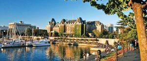 il castello di Victoria, capitale della british columbia, in canada