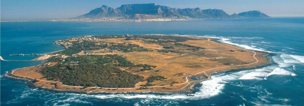 vista aerea di Robben Island
